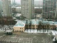 плац, кафедра автоподготовки, казармы спецуры, склады, справа внизу белый воин