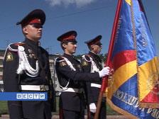 Выпускники кадетской школы простились со знаменем