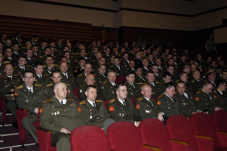 Прием офицеров внутренних войск
