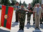 Военный институт Минобороны ПМР получил боевое знамя