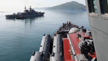 Военные учения Тихоокеанского флота