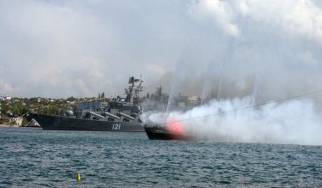 В Севастополе началось учение военных моряков России и Украины